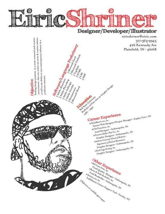 81 best Graphic Design: Creative Resume images on Pinterest ...