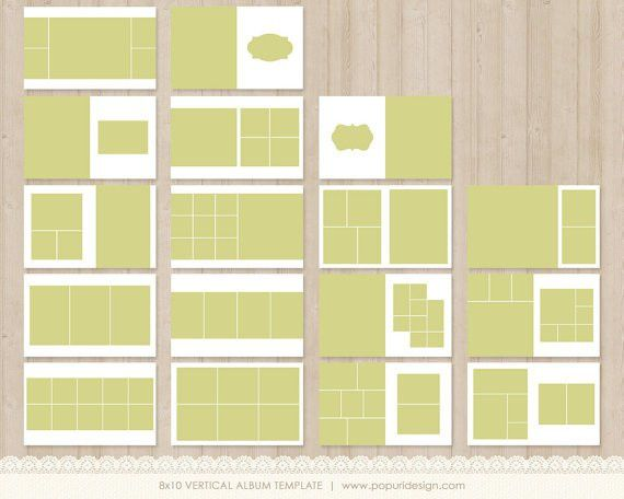 Instant Download 8x10 Vertical Album Template for by PopuriDesign ...