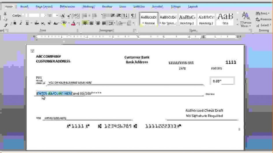Checks Template Blank Payroll Template Free Payroll Checks ...