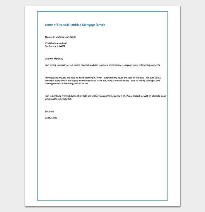 Hardship Letter Template - 10+ For Word, PDF Format
