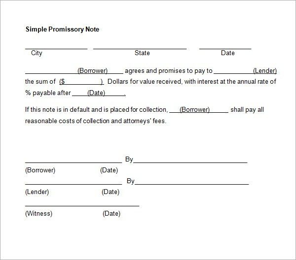 11+ Promissory Note Templates - Word Excel PDF Formats