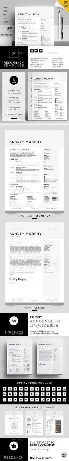 Simple and Clean Resume CV Template | reference: curriculum ...