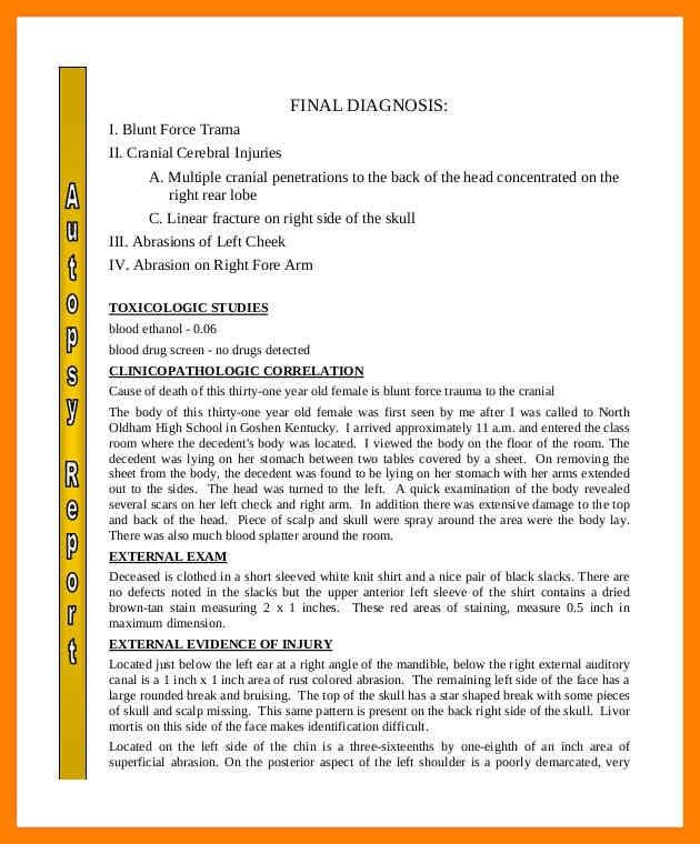 Autopsy Report Template. certified translation samples day ...