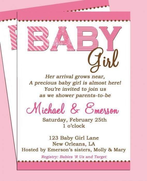 Girl Baby Shower Invitation Wording - reduxsquad.Com