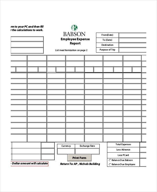 Expense Report - 11+ Free Word, Excel, PDF Documents Download ...