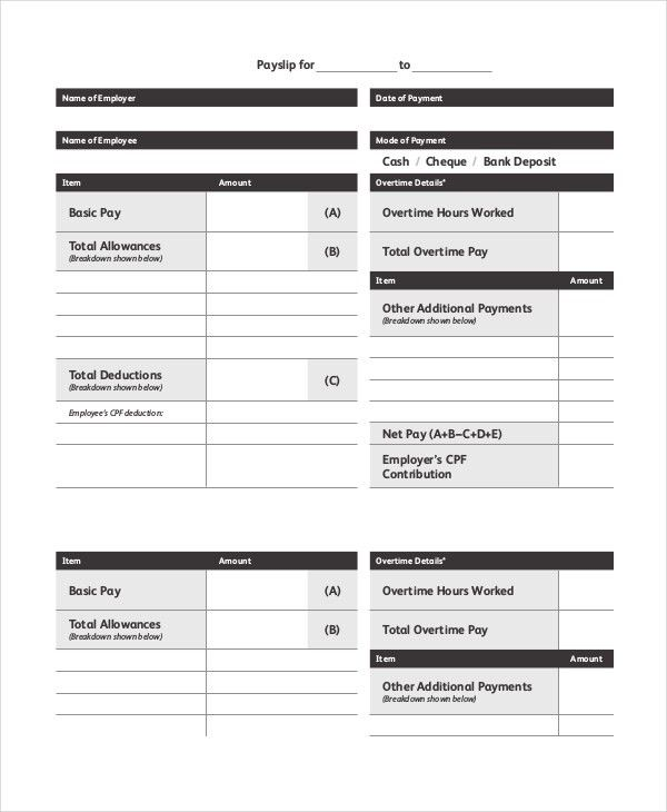 Slip Template - 7+ Free Word, PDF Documents Download | Free ...