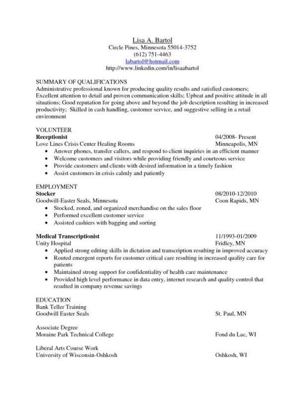 Curriculum Vitae : Design Cover Letters Professional Summary For ...