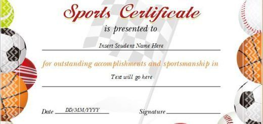 Sports Award Certificates | Professional Certificate Templates