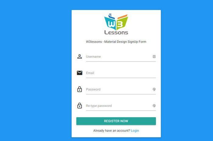 13 Free CSS3 Sign up & Registration Forms for Modern Websites