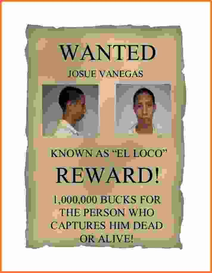 Wanted Poster Example.Wanted Posters.jpg - Sales Report Template