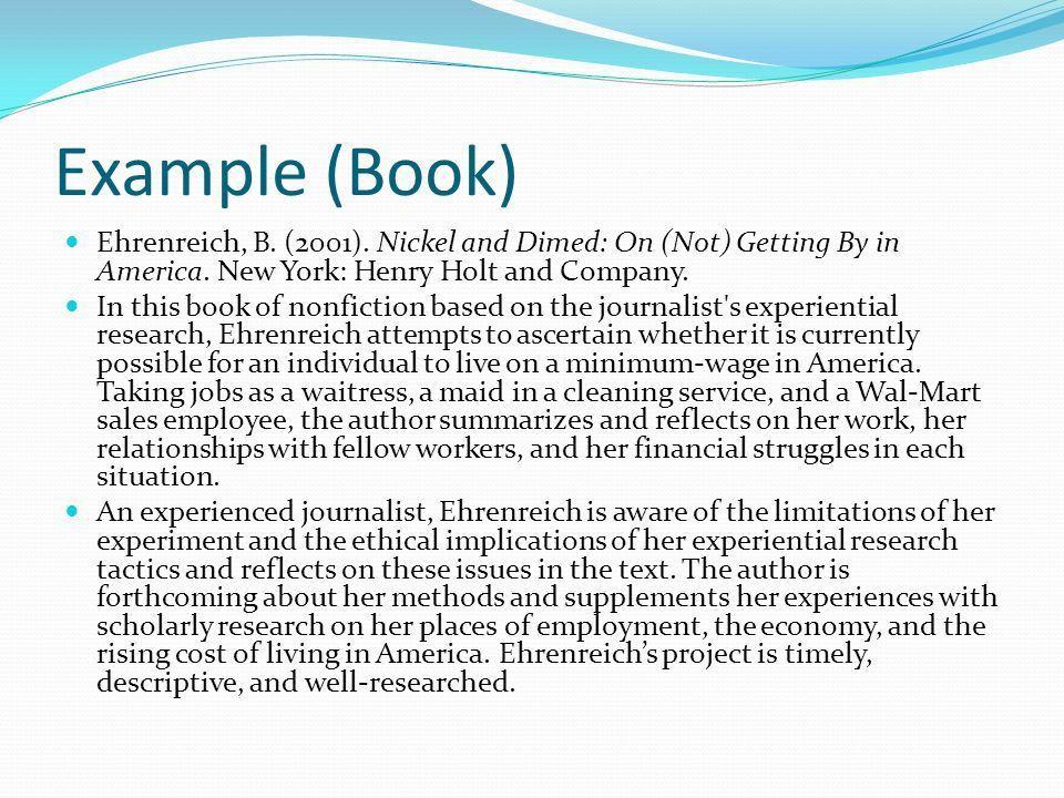 A Quick Overview. Bibliography A bibliography is a list of sources ...