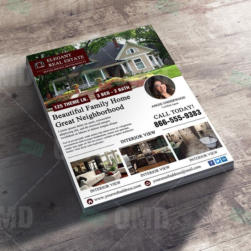 Elegant Open House Flyer Template – Real Estate Lead Generator