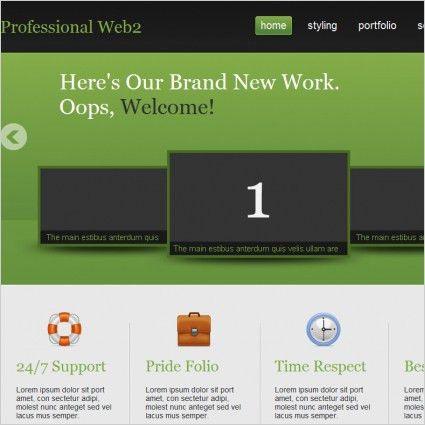Green grey free website templates for free download about (158 ...