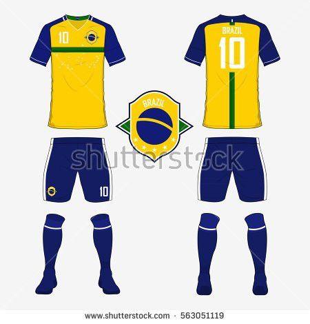 Set Soccer Jersey Football Kit Template Stock Vector 558779986 ...