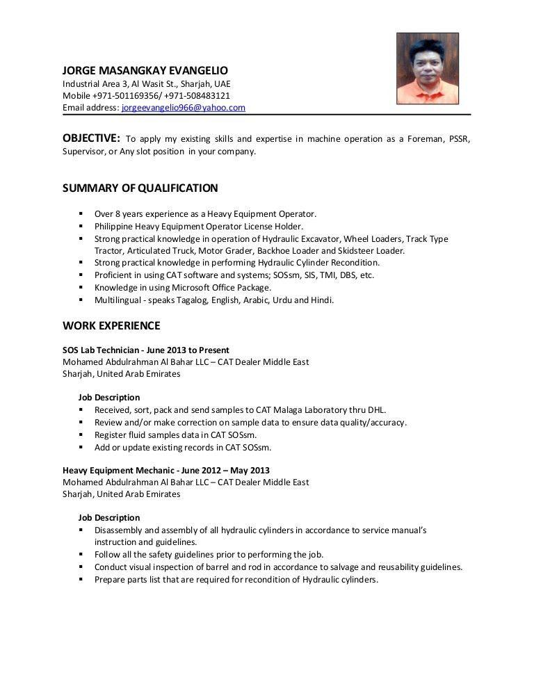 sample machine operator resume mobile repair sample resume free ...