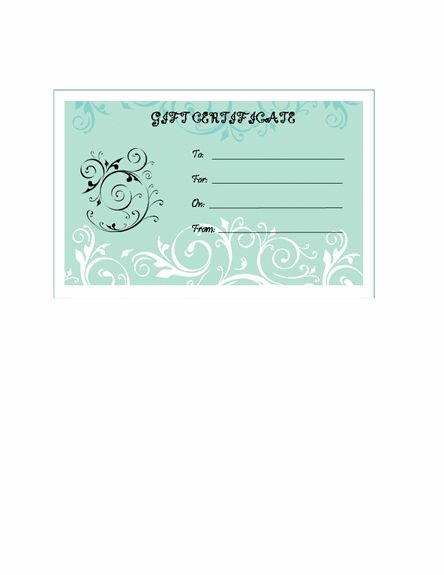 Halloween Gift Certificates – Microsoft Word Template | Gift ...