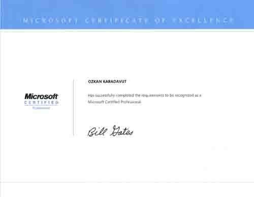 My Certificates