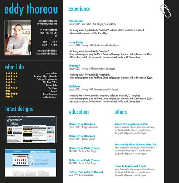 9 Helpful Resume Design Tutorials to Learn | Photoshop and Tutorials