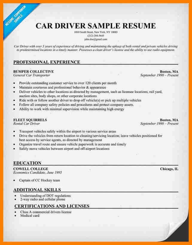 7+ driver cv format in ms word | sephora resume