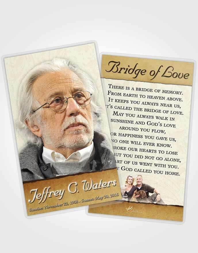 Obituary Template Trifold Brochure Sandy Destiny