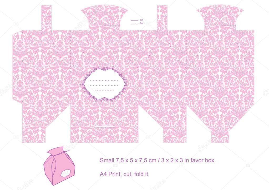 Gift box template — Stock Vector © yaskii #7274778