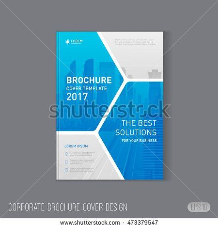 Blue Cover Design Annual Report Vector Stock Vector 449241322 ...