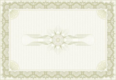 Decorative pattern certificate border template free vector ...