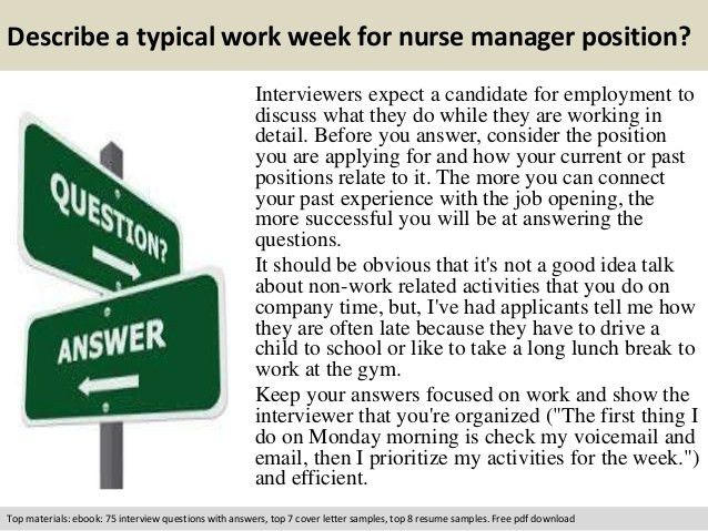 interview questions for a nurse manager