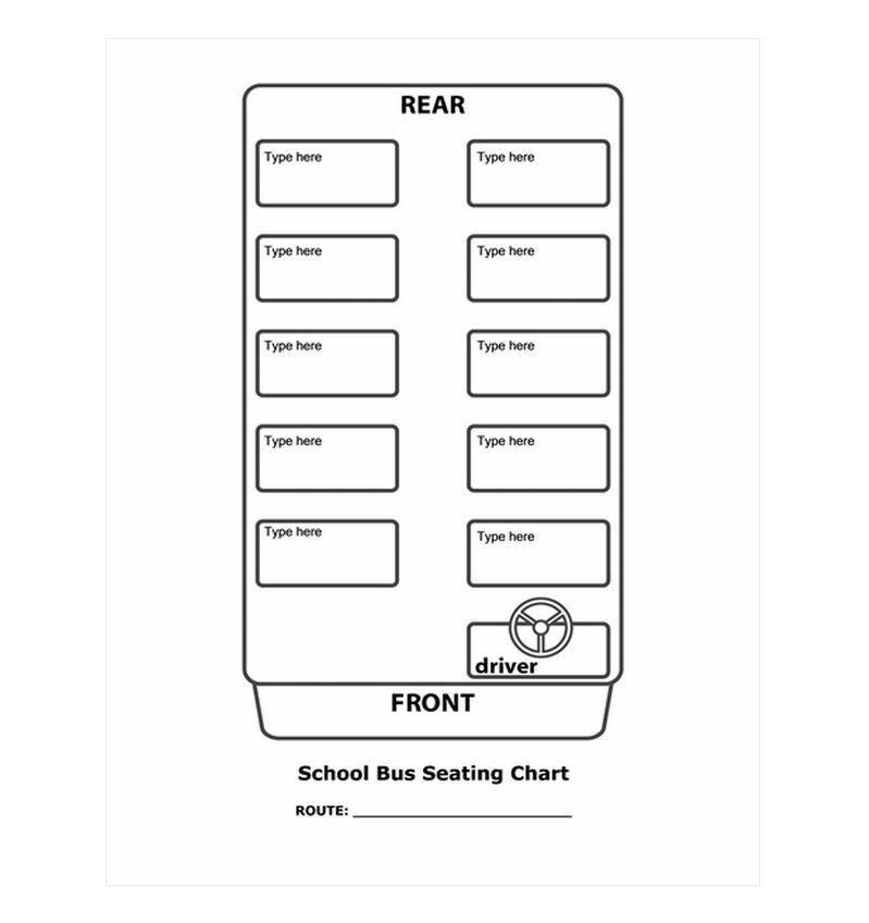 10 Best Images Of Bus Seating Chart Printable - School Bus Blank ...