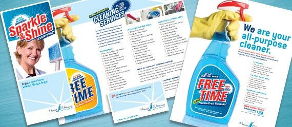 Creative Marketing Materials for a House Cleaning Service ...