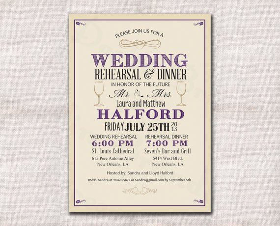 Free Rehearsal Dinner Invitations – gangcraft.net
