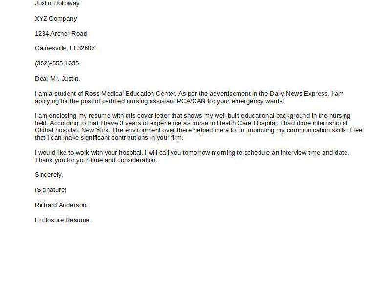 Wonderful Simple Cover Letter Example 15 Short Sample - CV Resume ...
