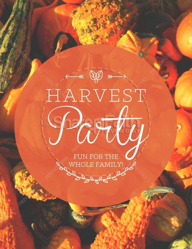 Harvest Party Religious Flyer Template | Flyer Templates