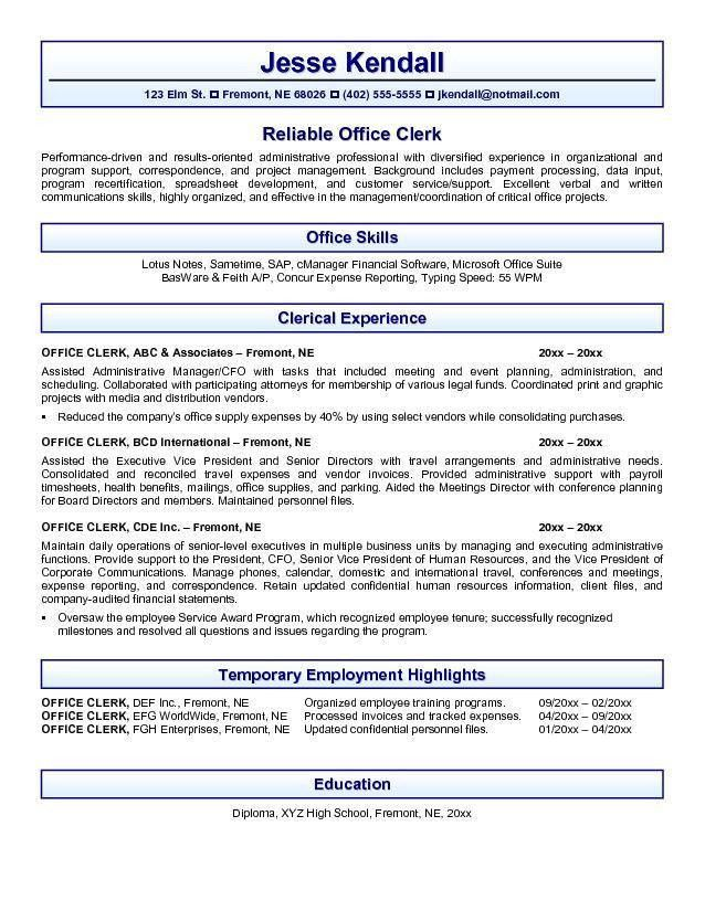 scanning clerk cover letter meeting outline sample business ...