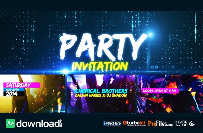 PARTY INVITATION (VIDEOHIVE PROJECT) - FREE DOWNLOAD - Free After ...
