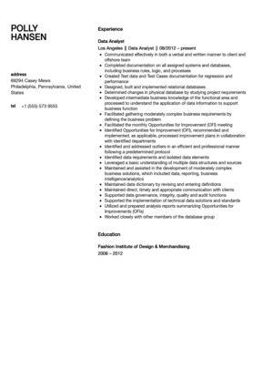 Data Analyst Resume Sample | Velvet Jobs