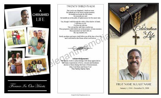 Obituary Template Sample | Example of Obituary Programs