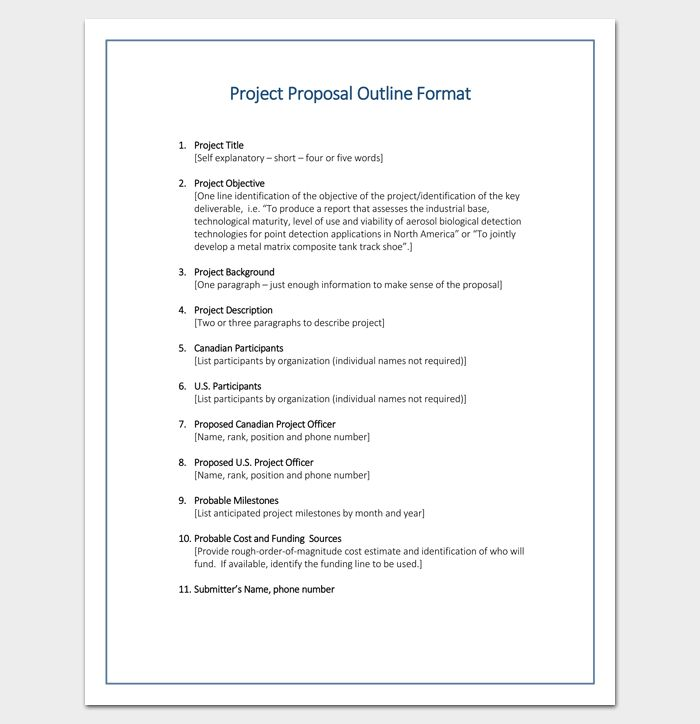 Proposal Outline Template - 6+ Samples, Examples, Format