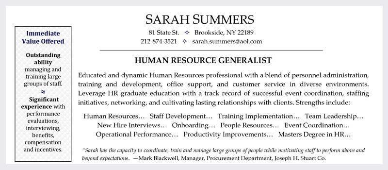 Free Resume Samples - Wolfgang Career Counseling & Resume Writing