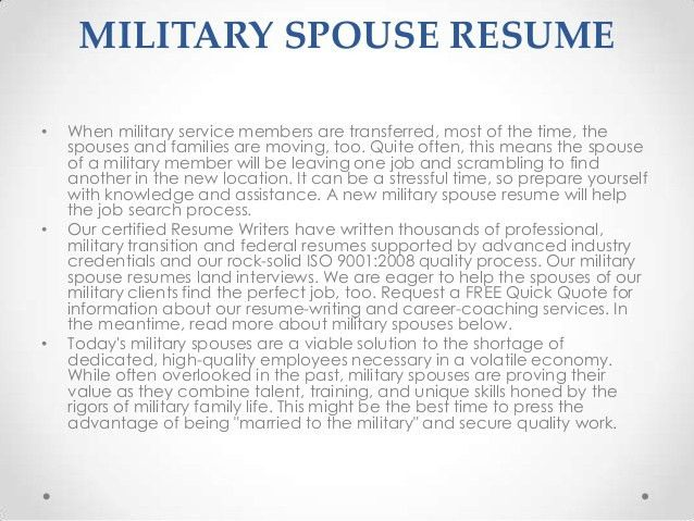 Military Resumes