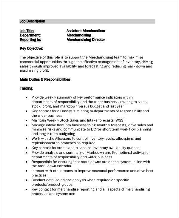 Visual Merchandiser Cv Rnei Assistant Merchandiser Cv Sample 15 ...