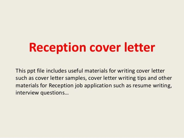 medical receptionist cover letter example. sample receptionist ...