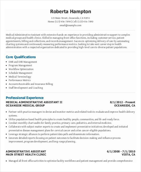 medical office assistant resumes