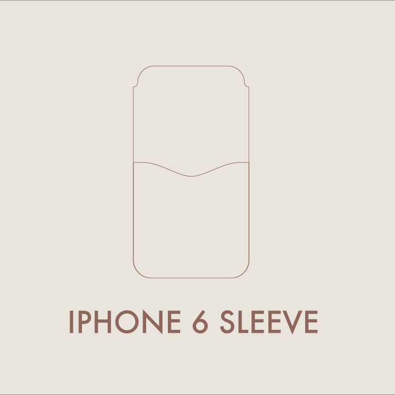 Leather iPhone 6 Sleeve Digital Template (A4) – MAKESUPPLY