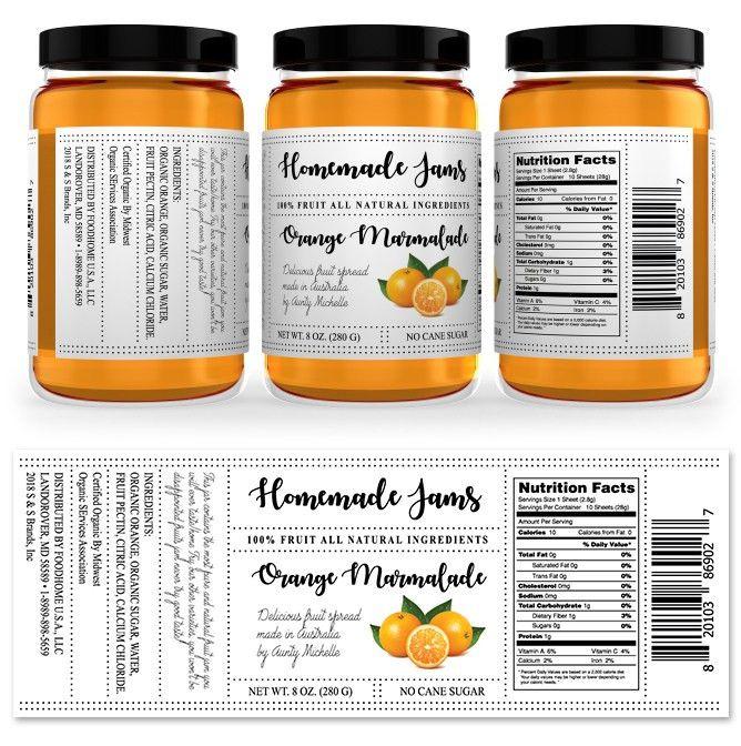 Orange Marmalade Jam Label Template http://www.dlayouts.com ...