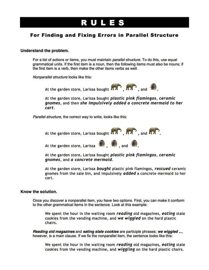 PARALLEL STRUCTURE - English 9 @ DVD