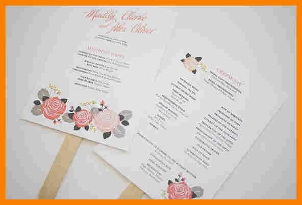 Wedding Fan Program Templates. 25 best fall wedding programs ideas ...
