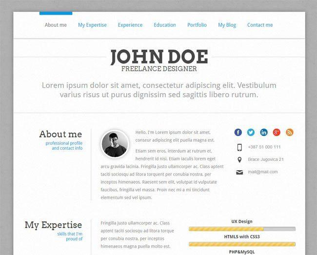 15 Best WordPress Themes for Creating Resume, CV & Profile