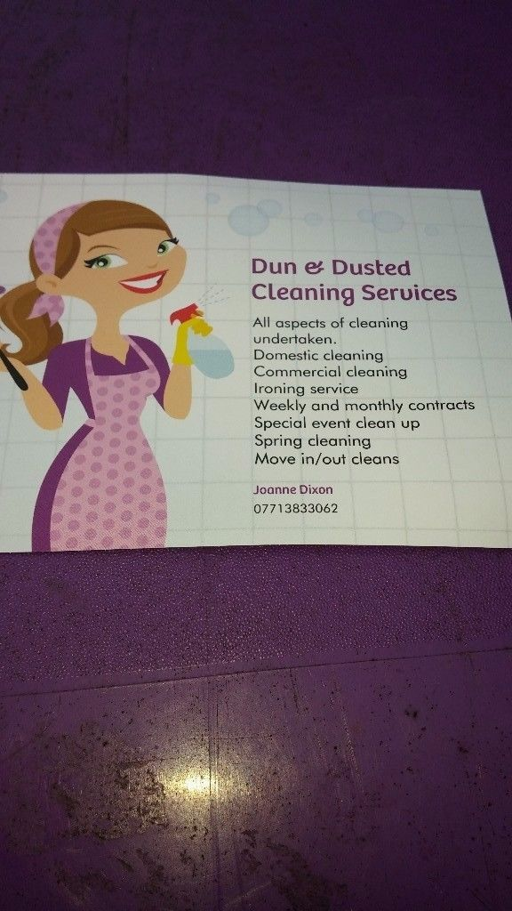 Domestic cleaners can do weekly monthly or 1 of visits,ironing ...