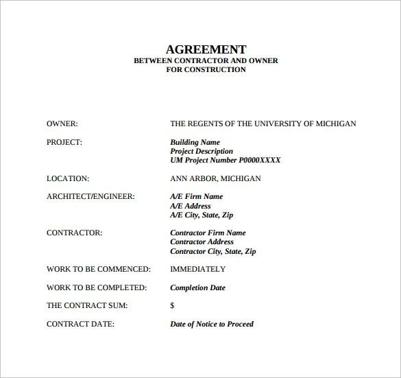 Sample Contract Agreement -13+ Free Documents Download In Pdf ...